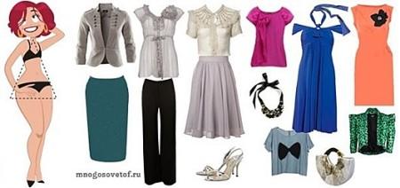 Подбор одежды по типу фигуры треугольник