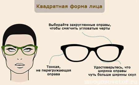Как подобрать оправу для очков по типу лица