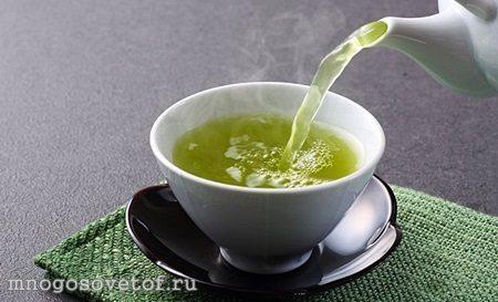 Полезные продукты для красивой и здоровой кожи лица. Зеленый чай